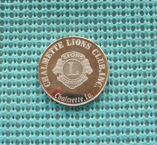 1967 Chalmette LIONS Club, Inc./ Golden Ann .999 FINE SILVER Mardi Gras Doubloon