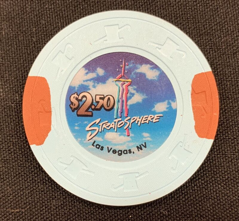 Las Vegas Stratosphere Casino $2.50 Chip — Uncirculated