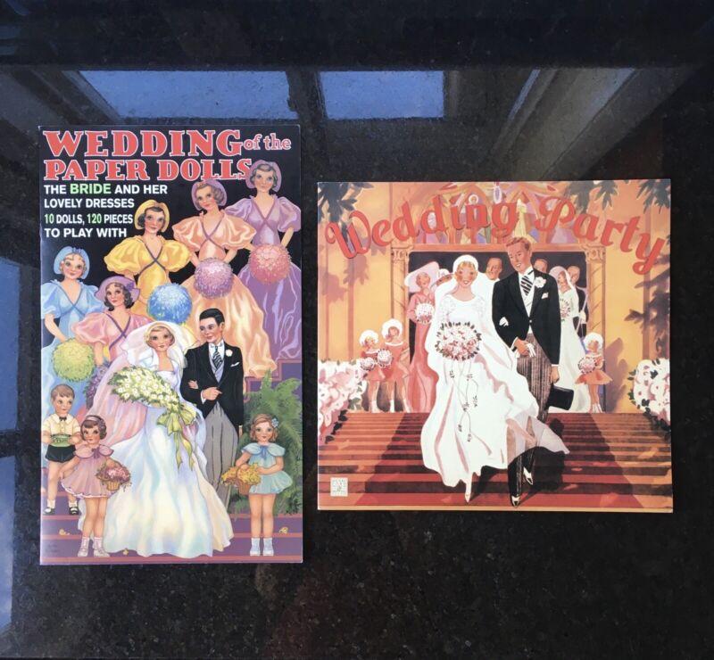 Vintage Lot 2 Paper Doll Sets Wedding Party 1991, 2001 Uncut Hong Kong New