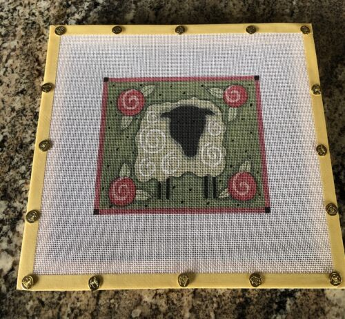 """Hand Painted """"Sheep"""" Canvas On Frame"""