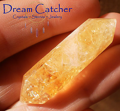 Golden CITRINE DT Mini Crystal Point Wand #6 Crystal Stone Healing