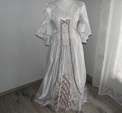 Kleid Brautkleid Perlen bestickt Gr M auch als Kostüm geeignet für Karneval usw