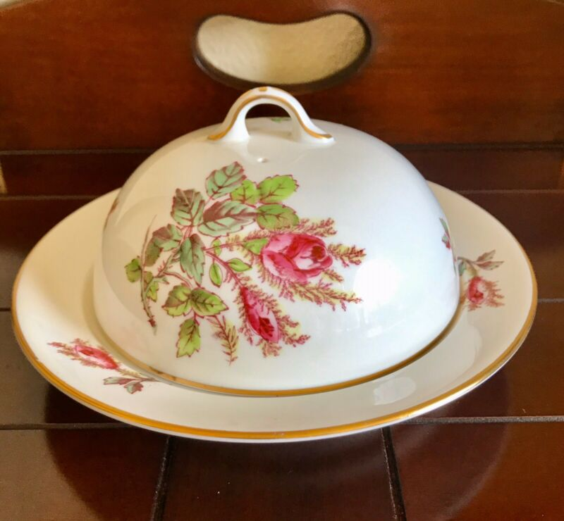 Vintage Royal Chelsea Covered Butter Dish Muffin Warmer Bone Fine China England