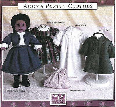 ADDY'S PRETTY CLOTHES PATTERN! PLEASANT COMPANY~AMERICAN GIRL~1990! NEW~SEALED!