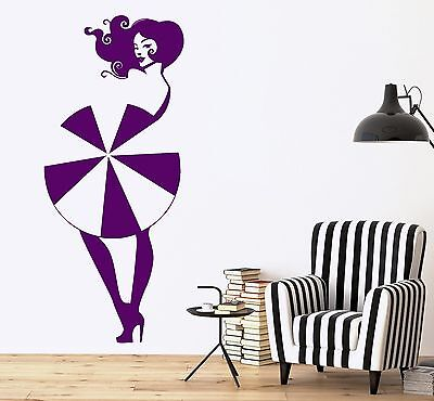 Wall Vinyl Decal Girl Sexy Hot Umbrella Amazing Decor For Your Place z3699