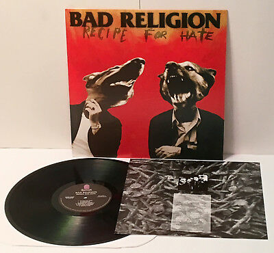 BAD RELIGION recipe for hate LP Vinyl Record with lyrics insert comprar usado  Enviando para Brazil