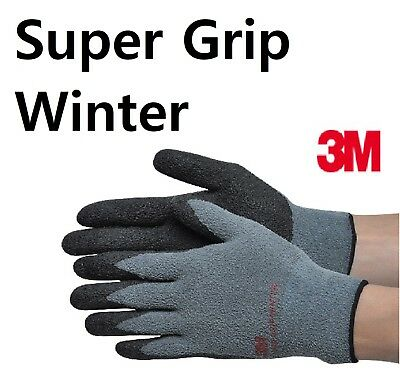 3m Super Grip Winter Gloves Nitrile Foam Coated Warm In Cold Weather See Pics