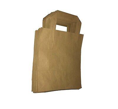 Large Brown Kraft Paper Takeaway / Restaurant SOS Carrier Bags x 250