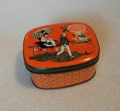 Art Deco Penguin Toffees Carlisle sweet tin Japanes decoration 10x8x5.5cm