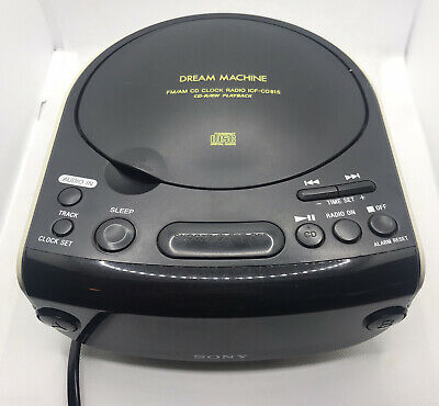 SONY Dream Machine ICF-CD815 Dual Alarm LED Clock FM/AM Radio CD Player TESTED