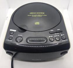 SONY Dream Machine ICF-CD815 Dual Alarm LED Clock FM/AM Radio CD Player TESTED
