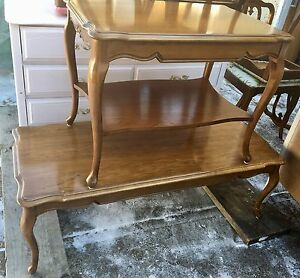 Vintage Wooden French Provincial End Tables(2sets)