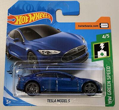 Hot Wheels TESLA MODEL S HW Green Speed Brand NEW