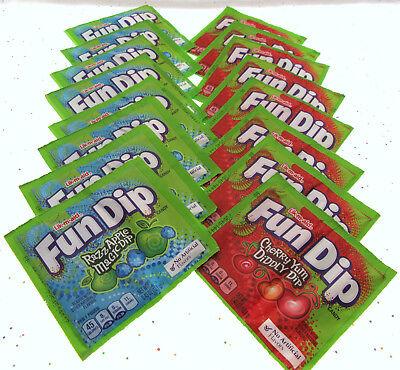 Fun Dip ~ Razz Apple Magic Dip and Cherry Yum Diddly Dip ~ 16 Pouches of - Pouches Dip