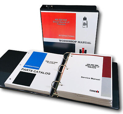 International Farmall 560 660 Diesel Gas Lp Tractor Service Parts Shop Manualset