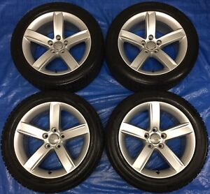 """2013 Audi A5 OEM 17"""" Wheels & Winter Tires 75% *Perfect Cond.*"""