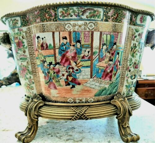 Antique Chinese Hand Painted Pot, Circa 1930