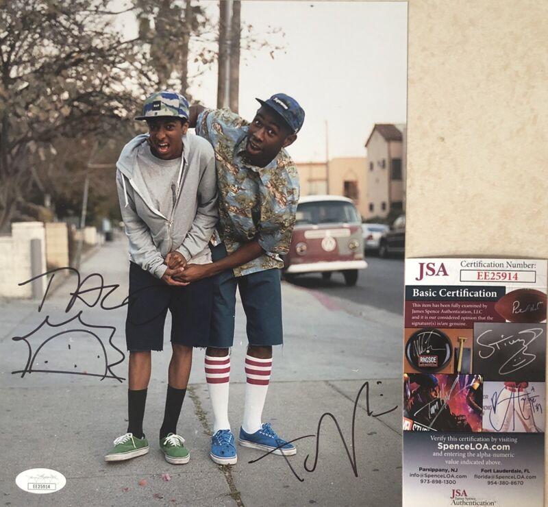 Tyler The Creator & Taco Signed Autographed 8x10 Photo Odd Future Rapper JSA COA
