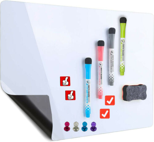 """Dry Erase Fridge Whiteboard Magnetic Whiteboard 12""""x17"""" ,3 Markers and1 Eraser"""