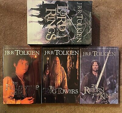 J.R.R. Tolkien The Lord of the Rings Paperback 3 Volume Edition Boxed Set CLEAN