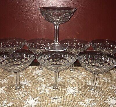 8 Fostoria Americana ~Tall Stem Sherbet / Champagne Flared Rim (Sherbet Stem)