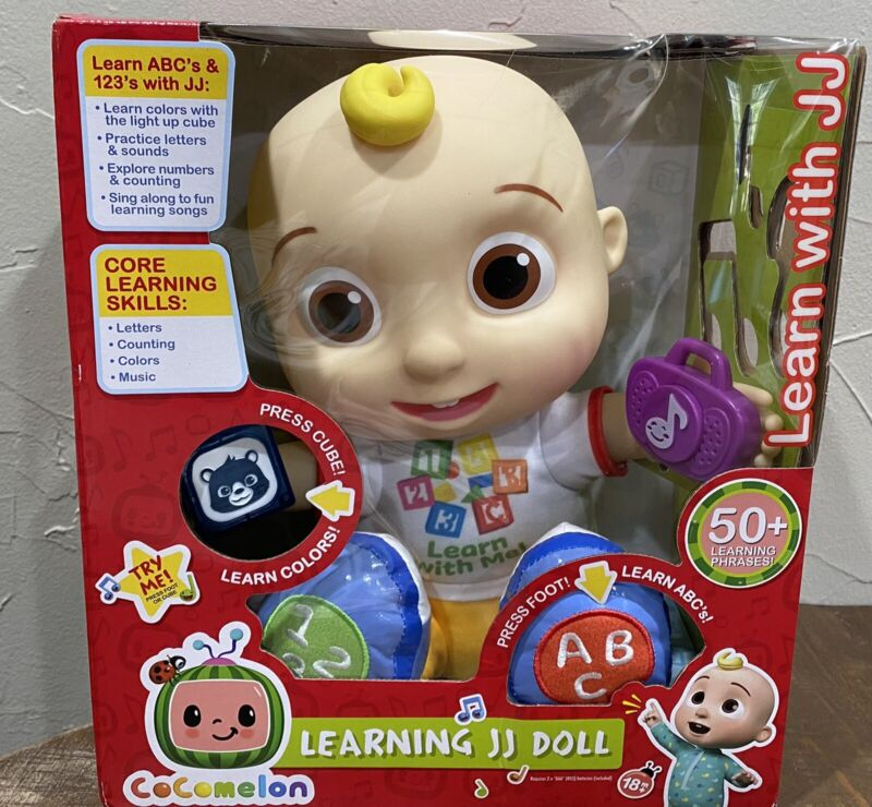New* Cocomelon Interactive Learning JJ Doll Lights Sounds Music Just Play Kids