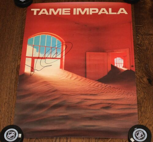 KEVIN PARKER SIGNED TAME IMPALA THE SLOW RUSH ALBUM POSTER LITHO w/COA A2 /1500