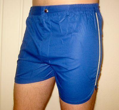 NEW Vtg 70s 80s Vanderbilt BLUE Striped Mens LARGE Retro TENNIS Track shorts NOS