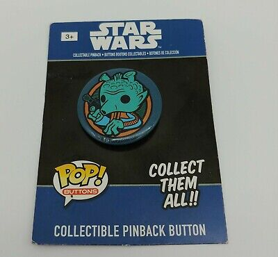 Star Wars Classics Funko Pop! Pinback Button Greedo Sold Out Discontinued Rare