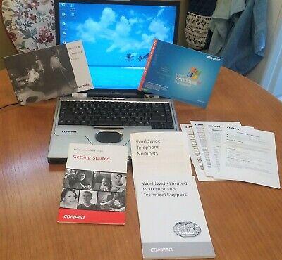 Compaq Windows XP Pro Laptop.w ALL discs+booklets,carry case Amazing condition.