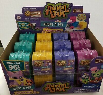 Animal Jam Adopt A Pet Treasure Chests Mystery Case of 24