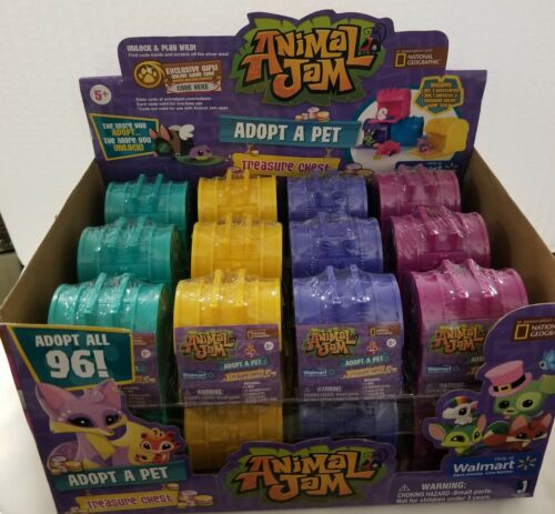 Animal Jam Adopt A Pet Treasure Chests Mystery Case of 24 For Sale - 2