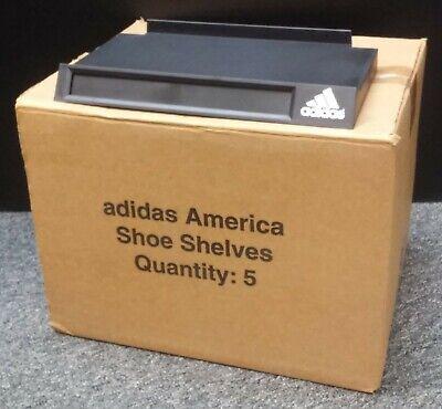 Adidas Shoe Shelf For Slatwalls Carton Of 5 Shelves Black With Model Window