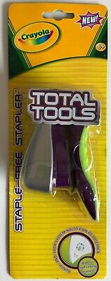 Crayola Total Tools Staple-free Stapler Punch And Lock System Holds Papers New