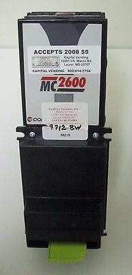 Coinco Mc2621 120v Bill Acceptor Validator American Changer Laundry Car Wash