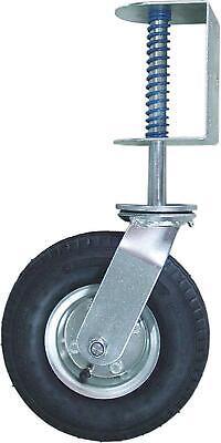 8-inch Pneumatic Gate Caster Spring Loaded Swivel Wheel 200-lb Load Capacity