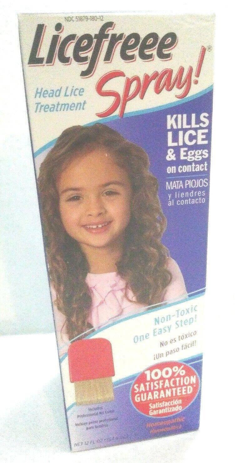 Licefreee Spray Instant Head Lice & Egg Treatment Bottle Met