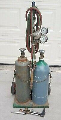 Oxygen Acetylene Empty Tanks Victor Welding Torch Ca1050 315 Regulators Cart