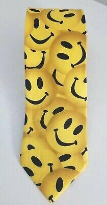 NEW Mens Funny Yellow Smiley Face Emoji Necktie Tie Funny Necktie Tie