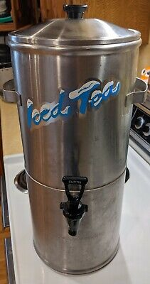 Used Curtis Tc-2h Round Stainless Steel 2 Gallon Iced Tea Dispenser
