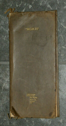 1912 Leather Ladies Secrets Book-Grand Opening Souvenir-Martin Hotel Sioux City