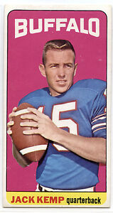 1965 TOPPS #35 JACK KEMP EX BUFFALO BILLS TALL BOY FOOTBALL SET