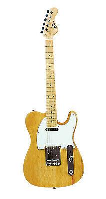 Eleca DGT-250  Nature Electric Guitar, Telecaster Style,