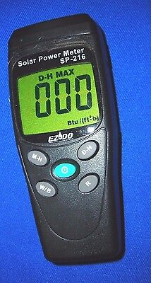 Hitech Solar Power Meterradiation Meas.2000 Wm2 Btuft2xhdata.light Sensor