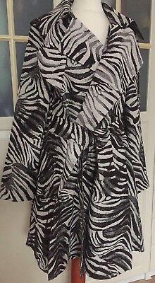 Lanvin pour H&M Mantel Coat Zebramantel EUR Größe 40 size US 10 size UK 14