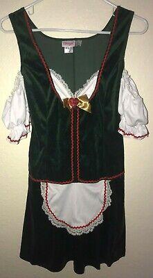 WOMENS size medium DREAMGIRL SEXY HALLOWEEN COSTUME NAUGHTY BAR MAID velvet @@](Naughty Maid Halloween Costume)