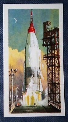 MERCURY SPACE ROCKET  Takeoff    Colour Card  EXC