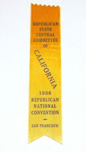 1956 DWIGHT EISENHOWER REPUBLICAN NATIONAL CONVENTION RIBBON button political