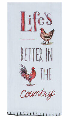 Kay Dee Designs LIFE'S BETTER IN THE COUNTRY 100% Cotton Flour Sack  Towel