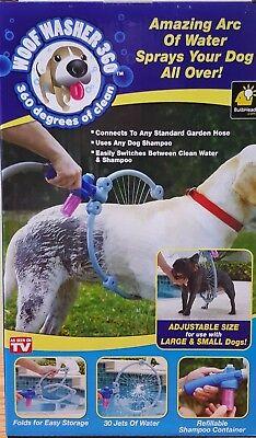 Woof Washer 360 Dog Washing Station Attaches to garden hose